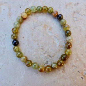 Bracelet Grenat vert
